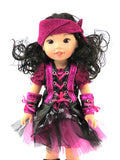 14.5 INCH DOLL: Metallic Pirate Costume Fits Wellie Wishers Dolls