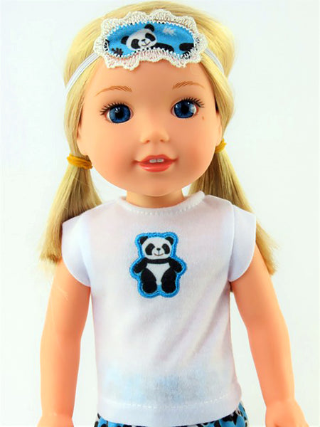 14.5 INCH DOLL Panda Pajamas and Slippers fits Wellie Wishers Doll, Glitter Girl