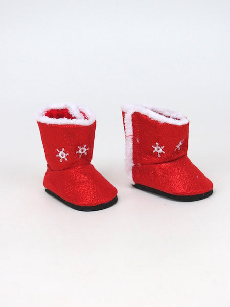 AG Doll Red Snowflake Boots
