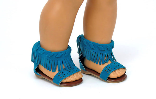 Trendy Fringe Sandals for American Girl Doll