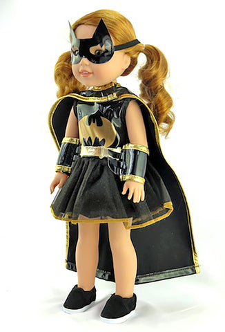 Wellie Wishers Doll Batgirl Halloween Costume for 14 Inch Doll