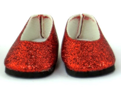 1ea062594deb 14.5 INCH DOLL Red Glitter Slip On Shoes fits Wellie Wishers Doll