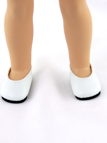 14.5 INCH DOLL White Slip on Shoes