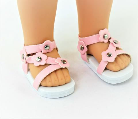 14.5 INCH DOLL Sandals made for Wellie Wishers Doll