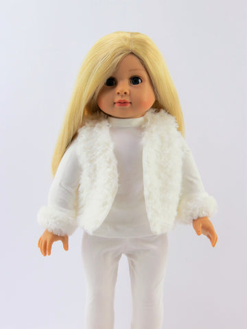 18 Inch Doll 3pc Pant Set with Fur Vest