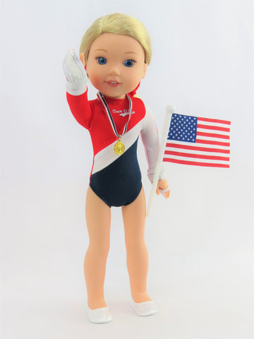 14.5 INCH DOLL American Gymnastics 5 pc Set