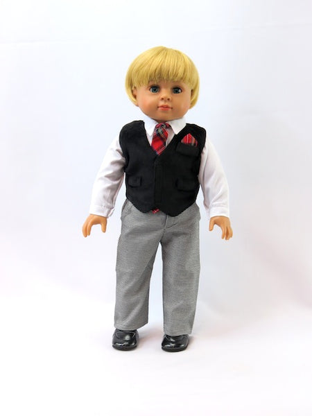 18 Inch Boy Doll Dress Suit and Tie