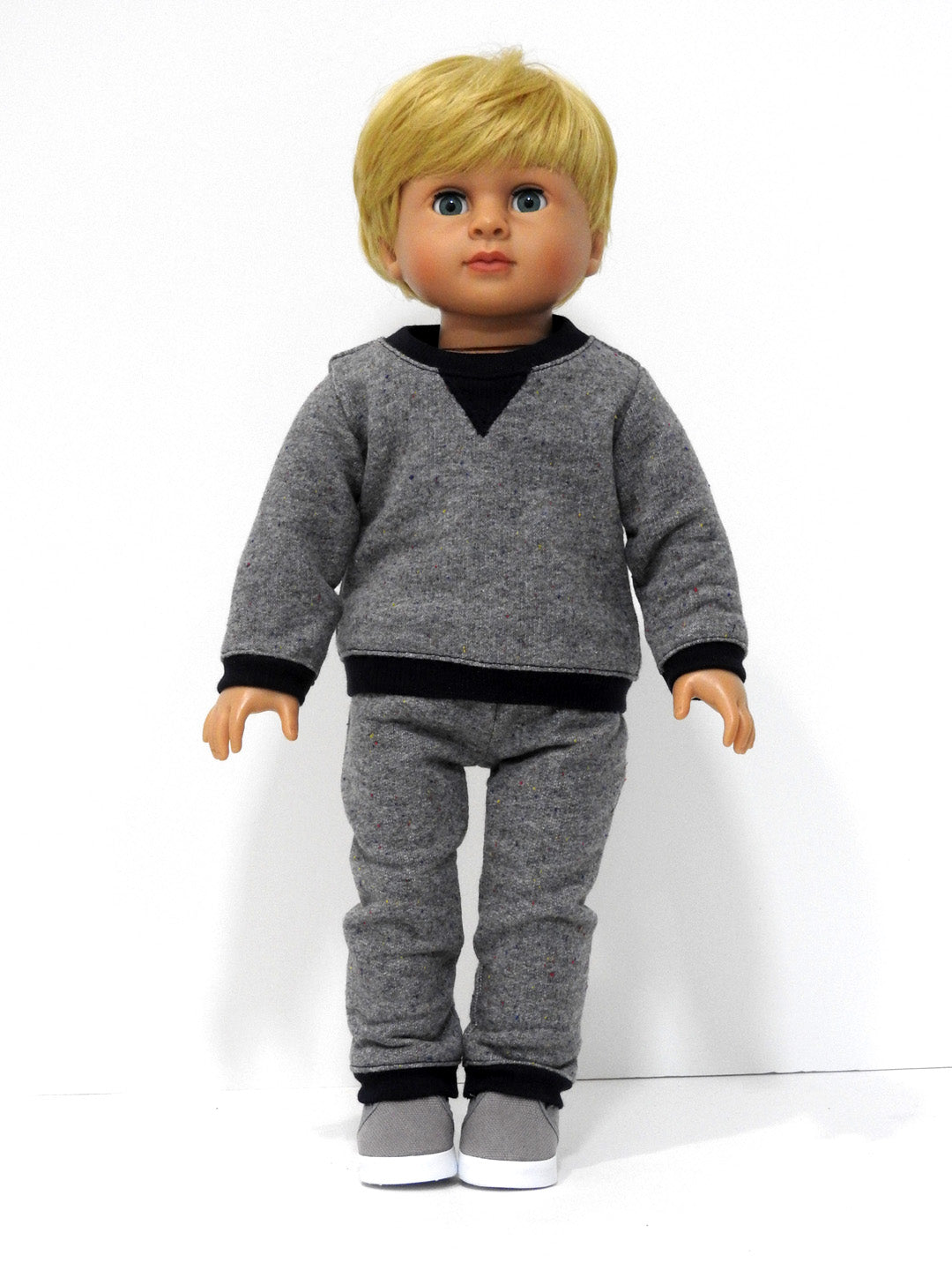 18 Inch Boy Doll Handmade Sweatshirt and Jogging Pants