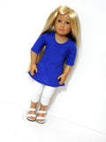 Trendy A-Line Tunic and Leggings Handmade for Kids N Cats Doll® or Journey Girl Doll®