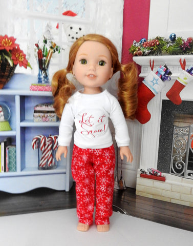 Wellie Wishers Doll Handmade PJ'S, 14.5 Inch Doll Pajamas