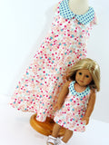 Doll and Me Matching Retro Halter Dresses