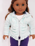 18 Inch Doll Ruched Hoodie Handmade for American Girl Doll
