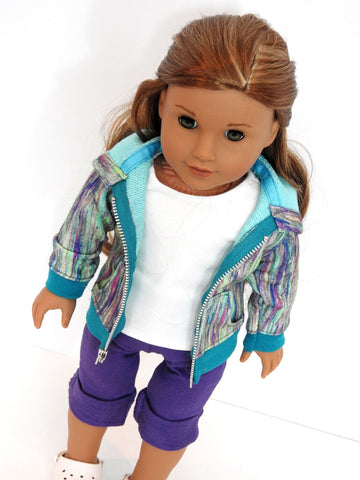 Trendy Hoodie, Capris, and T-Shirt for American Girl Doll
