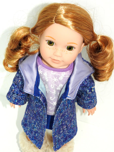 Copy of 14 Inch Doll Hooded Coat for Wellie Wishers Dolls