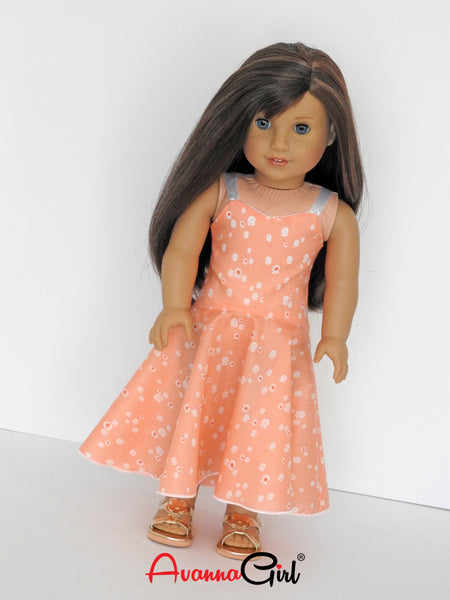 American Girl Doll Handmade High Low Maxi Dress