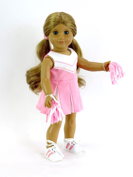 18 Inch Doll Pink Cheerleader Outfit