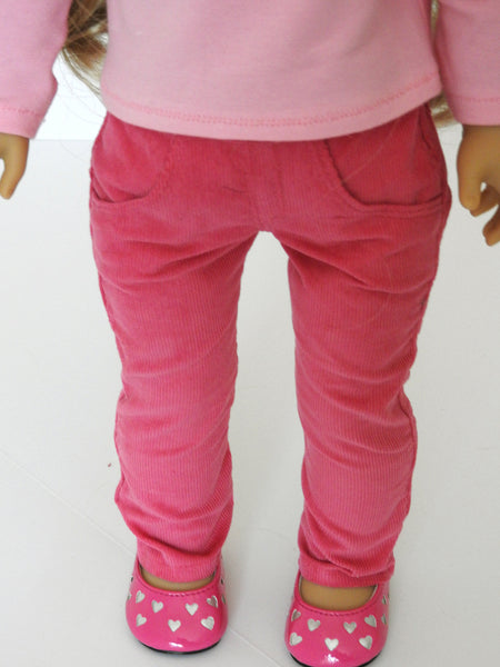18 Inch Doll Trendy Handmade Skinny Jeans and Off Shoulder Top
