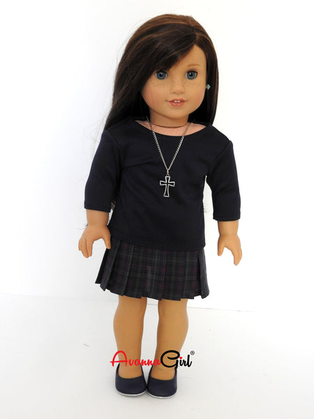 AG Doll Handmade Pleated Skirt and Tee