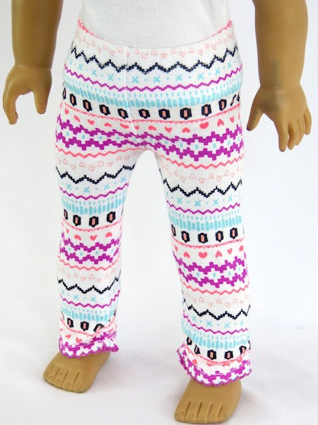 18 Inch Doll Pretty Pattern Leggings