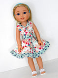Wellie Wisher Doll Handmade Reversible Dress