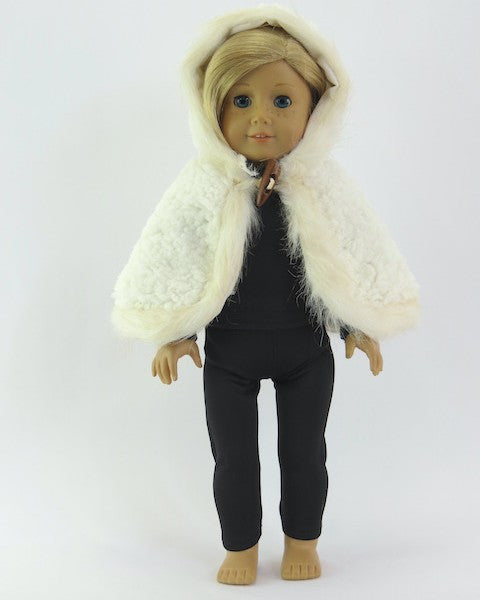 American Girl Doll Short Fur Cape