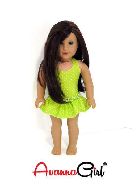 Skirted Polka Dot Swimsuit Handmade for American Girl Doll