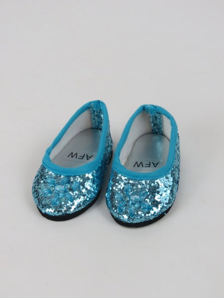 18 Inch Doll Jeweled Glitter Ballet Flats