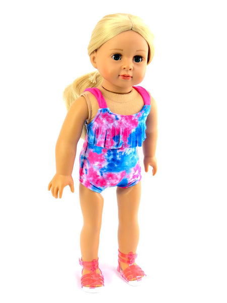 Tie Dye Swimsuit for American Girl Doll