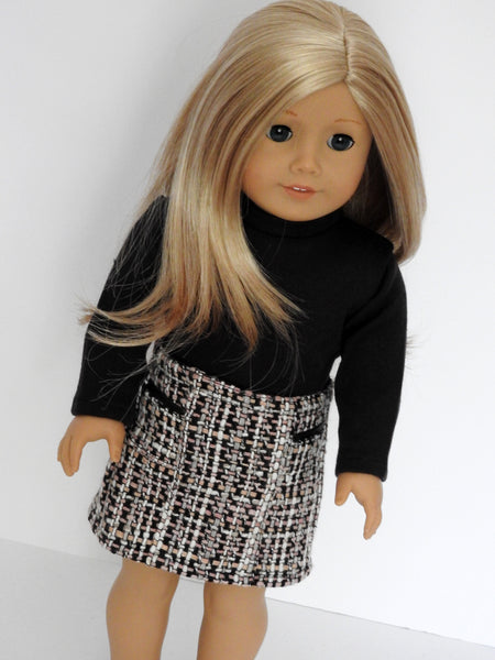 AG Doll Handmade Tweed Skirt and Tee