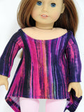 Trendy American Girl Doll Clothes Handmade Twirly Shark Bite Tunic and Leggings