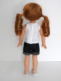 14.5 Inch Doll DENIM SHORTS AND TANK TOP FOR WELLIE WISHERS DOLL