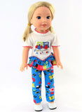 14.5 INCH DOLL Owl Pant Set