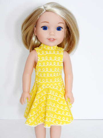 Wellie Wishers Doll Fit and Flare Dress