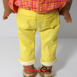 American Girl Doll Handmade Peplum Top and Skinny Jeans