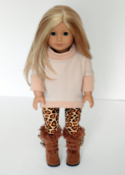 AG Doll Fall Clothes - Hi Lo Tunic Sweatshirt, Leggings, Boots