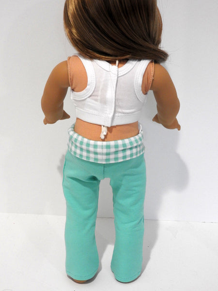 Yoga Pants and Sports Bra for American Girl Doll