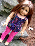 American Girl Doll Peplum Top and Skinny Jeans
