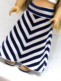 Doll and Me: Striped Yoga Style Maxi Skirt