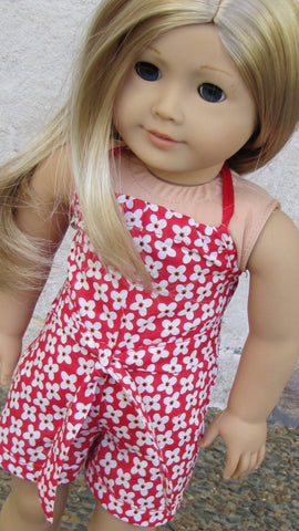 Handmade Romper for American Girl Doll, 18 Inch Doll