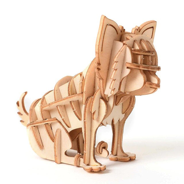 3D Miniature Wooden Dog