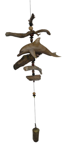 Carved Dolphin Windchime