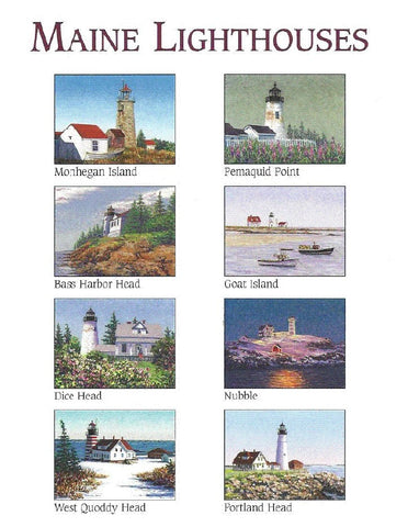 Maine Lighthouses Notecards by Marsha York