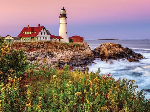 Maine Lighthouse (Portland Head) Jigsaw Puzzle