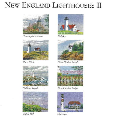 New England Lighthouses II Notecards by Marsha York