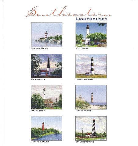 Southeastern Lighthouses Notecards by Marsha York