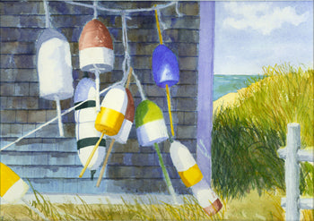 """Buoys II"" by C Barry Hills"