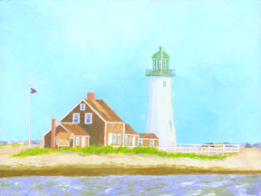 """Scituate Light"" by C Barry Hills"