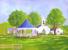 """The Village Green"" by C Barry Hills"