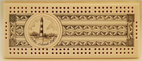 Scrimshaw Bodie Island Lighthouse Cribbage Board