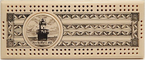Scrimshaw Butler Flats Lighthouse Cribbage Board